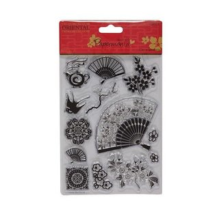 Docrafts / Papermania / Urban Clear Stamps Scene - Oosterse motieven (fans)