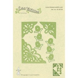 Leane Creatief - Lea'bilities Flower corner cutting and embossing template.