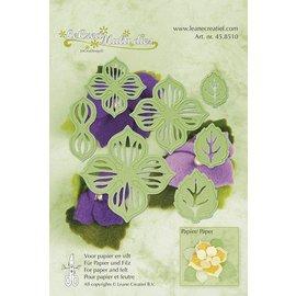 Leane Creatief - Lea'bilities Découpage et emboutissage fleurs au pochoir