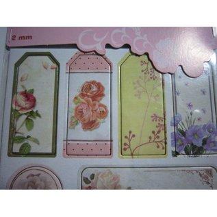 Embellishments / Verzierungen Autocollants en aggloméré, fleurs de nostalgie