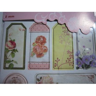 Embellishments / Verzierungen Chipboard Sticker, nostalgie blumen