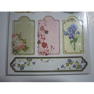 Embellishments / Verzierungen Spånplader Klistermærker, nostalgi blomster.