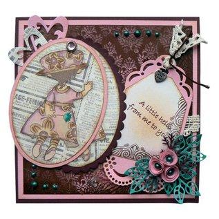 Marianne Design Perfuração e molde de estampagem: etiquetas decorativas
