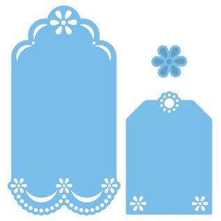 Marianne Design Ponsen en embossing sjabloon: decoratieve etiketten
