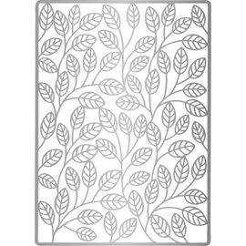Joy Crafts, Lin & Lene, Embossing A6 background leaves.