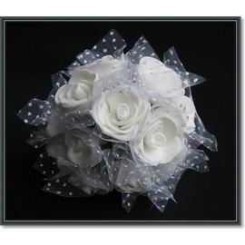 BLUMEN (MINI) UND ACCESOIRES Schuim rozen, 12 rozen, witte