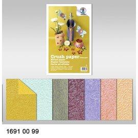 DESIGNER BLÖCKE / DESIGNER PAPER Efeito de papel, papel crush, 21 x 33 cm, 120 gr / m²,