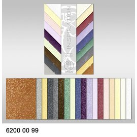 DESIGNER BLÖCKE / DESIGNER PAPER Collection Starlight, 18 feuilles, 200 gr / m², imprimé des deux côtés avec effet métallique