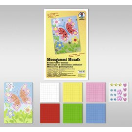 "Kinder Bastelsets / Kids Craft Kits Moosgummi Mosaik ""Schmetterling"""