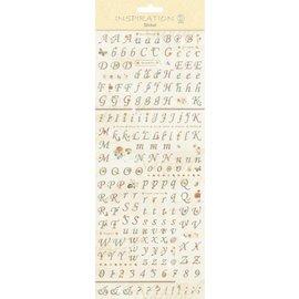 """Embellishments / Verzierungen Sticker: zur Kartengestaltung, Verzierung usw.,"""" Buchstaben und Zahlen"""""""