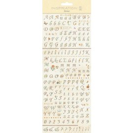 """Embellishments / Verzierungen Stickers: for card making, decoration, etc., """"Letters and Numbers"""""""