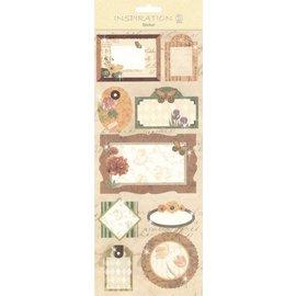 KARTEN und Zubehör / Cards Sticker: zur Kartengestaltung, Verzierung usw., verschiedene Motive, Nr. 04