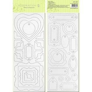 Blanco-Chipboard, vorgestanzt, zum Selbstgestalten, Motiv 3