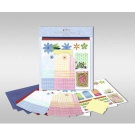 """KARTEN und Zubehör / Cards Set di carte per essere personalizzate, """"fiori"""", dimensioni 7,8 x 13,5 cm"""