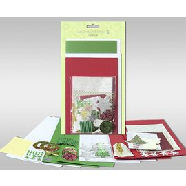 """BASTELSETS / CRAFT KITS Sets kaarten gemaakt kunnen worden, """"winter"""", voor 4 kaarten, afmeting 11,5 x 21 cm en 11,5 x 17 cm"""