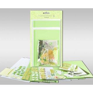 """KARTEN und Zubehör / Cards Sæt af kort, der skal personlig, """"Spring"""", for 4 kort, str. 11,5 x 21 cm og 11,5 x 17 cm"""