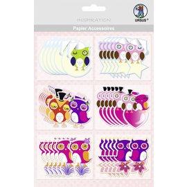 Embellishments / Verzierungen Accessoires de papier, Owl: 36 parties!