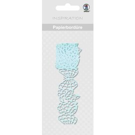 "Embellishments / Verzierungen Papierbordüre, ""bleu clair"", 16 mm, auto-adhésif, 200 cm"