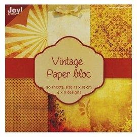 DESIGNER BLÖCKE / DESIGNER PAPER Vintage papier bloc 1, 36 p., 4x9 conceptions 15x15cm