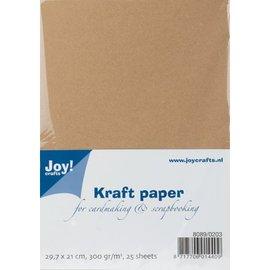 Kraft Paper, A4, 300gr, 25 feuilles