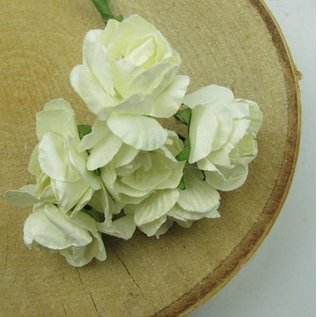 BLUMEN (MINI) UND ACCESOIRES Bouquets of flowers, white, vintage look