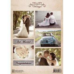 Nellie Snellen A4 broadsheet, bryllup