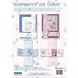 BASTELSETS / CRAFT KITS Klappkarten Set Geburt