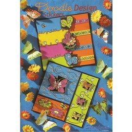 Bücher und CD / Magazines A5 Arbeitsbuch:  Doodle Design Stickers