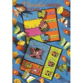 Bücher, Zeitschriften und CD / Magazines A5 Werkboek: Doodle ontwerp Stickers