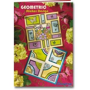 Bücher und CD / Magazines A5 Workbook: Autocollant de conception géométrique