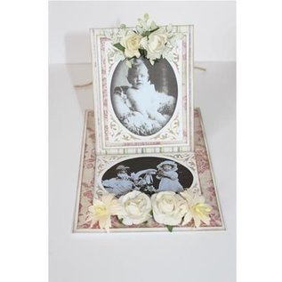 Cutting and embossing stencils: Vintage frame, oval