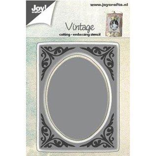 Stanz- und Prägeschablonen: Vintage Rahmen, oval