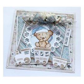 Stempel / Stamp: Transparent francobollo trasparente: Bambino e Teddy Bears