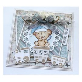 Stempel / Stamp: Transparent timbre transparent: Baby et Teddy Bears