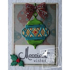 Punching and embossing templates: 3D Christmas Ball