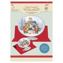 "BASTELSETS / CRAFT KITS A5 Staffeli Decoupage Card Kit, ""Winter Wishes"""