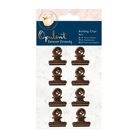 Embellishments / Verzierungen 8 Clips copper color