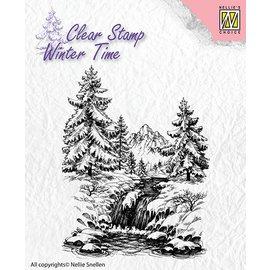 Nellie Snellen selos transparentes, paisagem com cachoeira