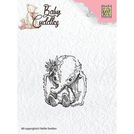 Nellie Snellen Transparent Stempel, Baby elephant