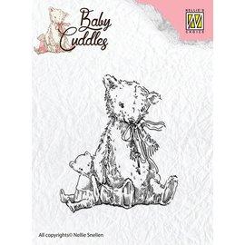 Nellie Snellen Transparent Stempel, Baby Cuddles - Teddybears