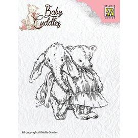 Nellie Snellen selos transparentes bebê afagos do bebê, amigos