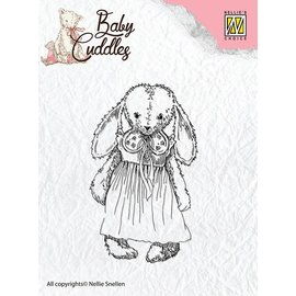 Nellie Snellen Transparent stamps Baby Cuddles Baby, Cuddly girl
