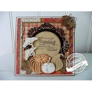 Marianne Design Punching and embossing template: doily and leaves