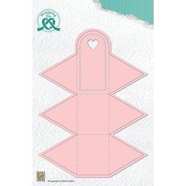 Nellie Snellen Poinçonnage et gaufrage modèles: boîte sous la forme d'un triangle