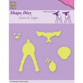 Nellie Snellen Poinçonnage et gaufrage modèles: Lene Design, Build-up le Bambi