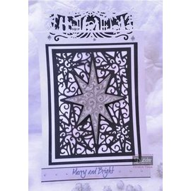Die'sire Punching and embossing templates: A6 frame with star