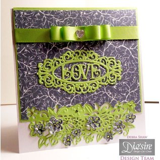 Die'sire Punching and embossing templates: Border with flowers