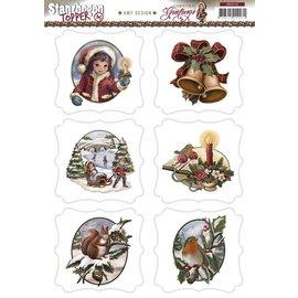 BILDER / PICTURES: Studio Light, Staf Wesenbeek, Willem Haenraets A4 Gestantzte Bilderbogen, Christmas Theme