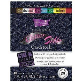 DESIGNER BLÖCKE / DESIGNER PAPER Designerblock, Glitter Silk Cardstock