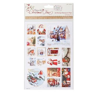 Docrafts / Papermania / Urban A5 Briefmarke Sticker, weihnachtliche Motiven